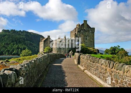 Eilean Donan Castle Dornie Lochalsh ,Braveheart Film Location, Western Highlands of Scotland.UK - Stock Photo