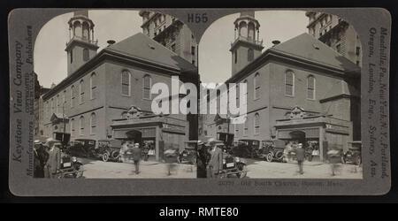 Old South Church, Boston, Massachusetts, USA, Keystone View Company, Stereo Card, 1924 - Stock Photo