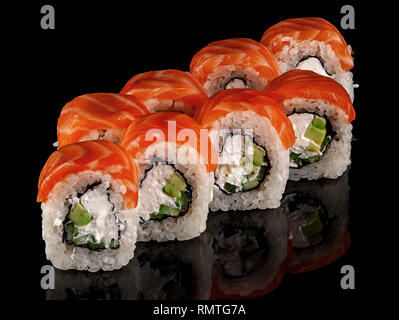 Several sushi rolls Philadelphia - Stock Photo