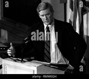 Former Massachusetts Governor Bill Weld announced he will run against President Donald Trump for the Republican Presidential nomination in 2020, Weld in this image was photographed during a Massachusetts gubernatorial debate in Boston Ma USA photo by Bill Belknap 1995 - Stock Photo