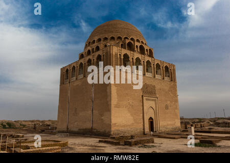 Mausoleum of Sultan Sanjar the ruler of a dynasty of the great Turkmen-Seljuks, Dar-ul-ahira (the other world) Recognised as a pearl of Islamic archit - Stock Photo