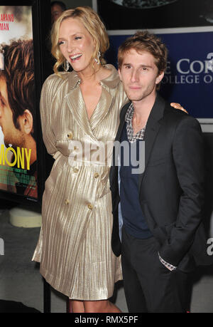 Uma Thurman and Michael Anganaro at the Ceremony Premiere at the Arclight Theatre in Los Angeles.a_Uma Thurman. Max Winkler _14  Event in Hollywood Life - California, Red Carpet Event, USA, Film Industry, Celebrities, Photography, Bestof, Arts Culture and Entertainment, Topix Celebrities fashion, Best of, Hollywood Life, Event in Hollywood Life - California, Red Carpet and backstage, movie celebrities, TV celebrities, Music celebrities, Topix, actors from the same movie, cast and co star together.  inquiry tsuni@Gamma-USA.com, Credit Tsuni / USA, 2011 - Group, TV and movie cast - Stock Photo