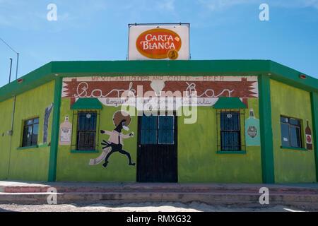 A bar in the town of Boquillas del Carmen in Mexico. - Stock Photo