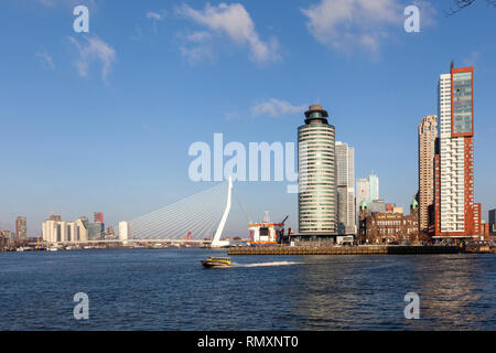 The Nieuwe Maas river in Rotterdam - the Netherlands - Image - Stock Photo