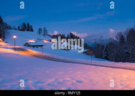 Winterlandschaft am Bürserberg - Stock Photo