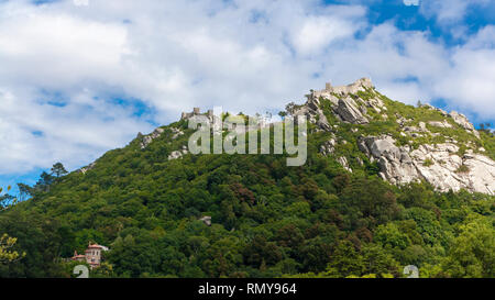 Castle on the hill, Portugal - Stock Photo
