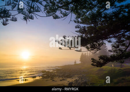 Seamist in the morning at Tuross Head, NSW, Australia - Stock Photo