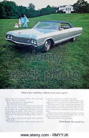 Vintage advertising for the Buick Electra 225 Car 1966 - Stock Photo