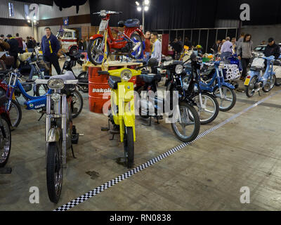 Motovespa Vespino. Most popular moped in Spain. Was made from 1968 to 1999. Retro Málaga 2019. Spain. - Stock Photo