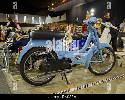 Motovespa Vespino. Most popular moped in Spain. Was made from 1968 to 1999. Retro Málaga 2019. Spain. - Stock Photo