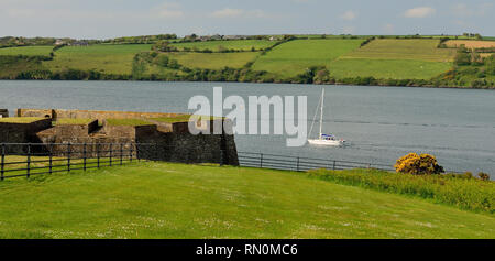 Charles Fort, at the entrance to Kinsale harbour. - Stock Photo