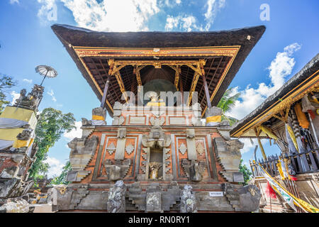 Pura Penataran Sasih, Huge bronze drum known as the Moon of Pejeng (Ratu Sasih) the largest single-piece cast drum in the world. Located in Tampaksiri - Stock Photo
