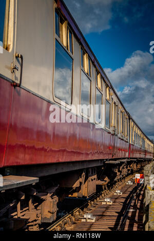Old train carriages - Stock Photo