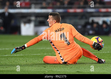Jordi Massip of Real Valladolid during the match between FC Barcelona vs Real Valladolid of La Liga, date 24, 2018-2019 season. Camp Nou Stadium. Barcelona, Spain - 16 FEB 2019. - Stock Photo