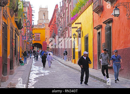 Relox street, San Miguel de Allende, Mexico - Stock Photo