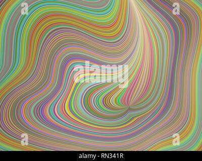 3D rendering illustration, colorful abstract background image. - Stock Photo