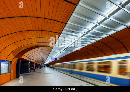 U Bahn Station - Westfriedhof,  Munich,  Bavaria,  Germany - Stock Photo