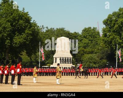 Trooping the Colour, House Guards Parade, London June 2017 - Stock Photo