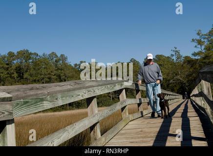 Vereen Memorial Historical Gardens Little River, South Carolina USA. - Stock Photo
