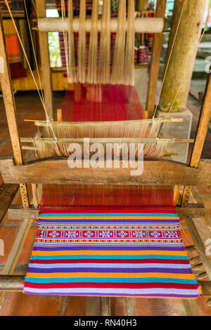 Loom in textile factory - Stock Photo