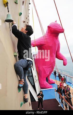 Royal Caribbean Quantum of the Seas cruise ship - Stock Photo