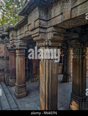 17-Jan-2017-heritage architecture-Dada Harir ni Vav (Stepwell) Asarwa area of Ahmedabad, Gujarat, India. asia - Stock Photo