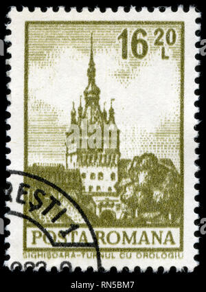 Postage stamp from Romania in the Definitives - Buildings series issued in 1972 - Stock Photo