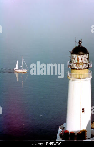 Maughold Head Lighthouse, Isle of Man - Stock Photo