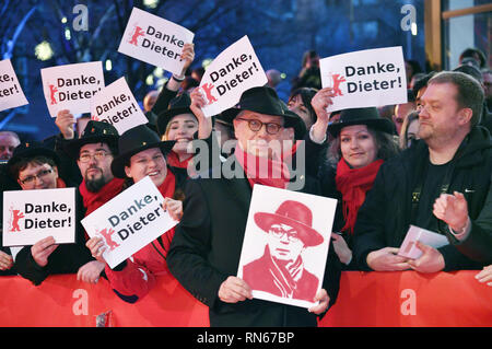 Berlin, Germany. 16th Feb, 2019. Dieter Kosslick attending the closing ceremony at the 69th Berlin International Film Festival/Berlinale 2019 at Berlinale Palace on February 16, 2019 in Berlin, Germany. | usage worldwide Credit: dpa/Alamy Live News - Stock Photo