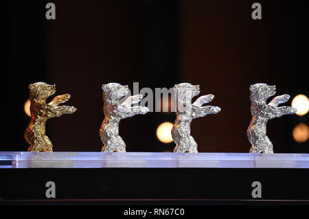 Berlin, Germany. 16th Feb, 2019. The Bears during the closing ceremony at the 69th Berlin International Film Festival/Berlinale 2019 at Berlinale Palace on February 16, 2019 in Berlin, Germany. | usage worldwide Credit: dpa/Alamy Live News - Stock Photo