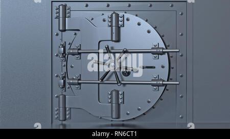 Bank vault door. 3d rendering. - Stock Photo