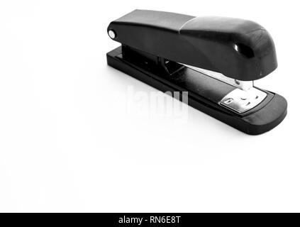 Black stapler isolated on white background - Stock Photo