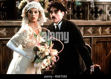 CHAPLIN, MARISA TOMEI , ROBERT DOWNEY JR., 1992 - Stock Photo