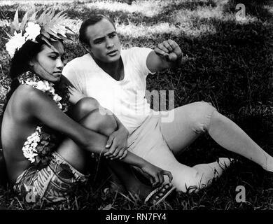 TARITA,BRANDO, MUTINY ON THE BOUNTY, 1962 - Stock Photo