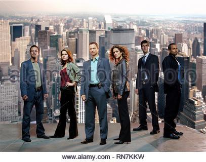 CARMINE GIOVINAZZO, ANNA BELKNAP, GARY SINISE, MELINA KANAKAREDES, EDDIE CAHILL,HILL HARPER, CSI: NY, 2004 - Stock Photo