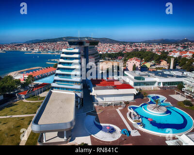 Vodice and Olympia Sky hotel - Stock Photo