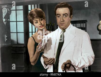 LOREN,SELLERS, THE MILLIONAIRESS, 1960 - Stock Photo