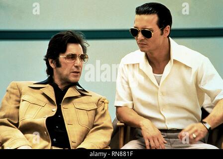 PACINO,DEPP, DONNIE BRASCO, 1997 - Stock Photo