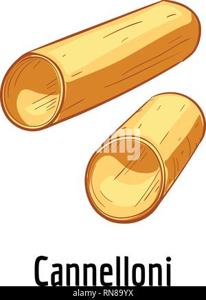 Cannelloni icon. Cartoon of cannelloni vector icon for web design isolated on white background - Stock Photo