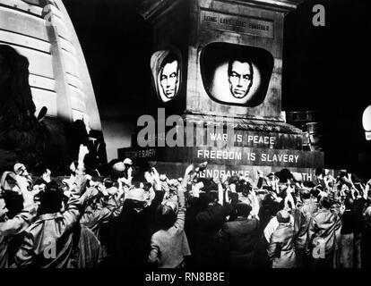 BIG BROTHER IS WATCHING SCREEN, 1984, 1956 - Stock Photo
