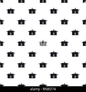 Digital saucepan pattern seamless vector repeat geometric for any web design - Stock Photo