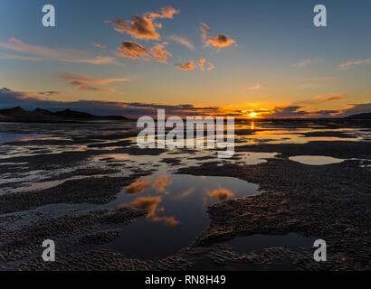 Sunset at Roanhead Beach - Stock Photo