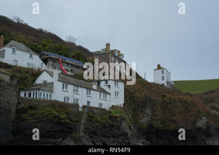 Port Issac, the filming location of Doc Martin, Cornwall - Stock Photo