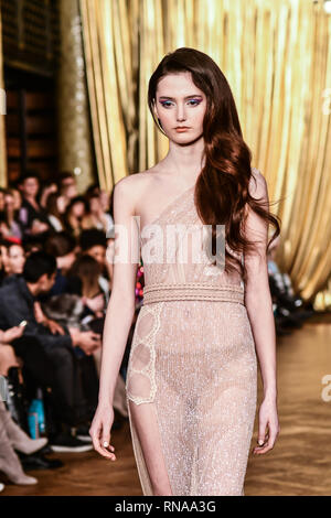 London, UK. 17th Feb 2019. AADNEVIK's Autumn/Winter 2019 fashion show at The Royal Horseguards One Whitehall Place, London, UK. 17th Feb, 2019. Credit: Picture Capital/Alamy Live News - Stock Photo