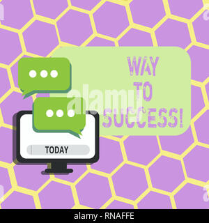 Text sign showing Way To Success. Conceptual photo On the right path to be successful achieving goals dreams - Stock Photo