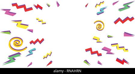 eighties background Pop art retro vector illustration vintage kitsch - Stock Photo