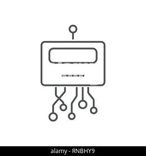 Robot head line icon. Signs and symbols can be used for web, logo, mobile app, UI, UX. Editable Stroke. EPS 10 - Stock Photo