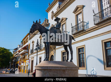 Plaza de toros de la Real Maestranza de Caballería de Sevilla, Seville, Spain. - Stock Photo