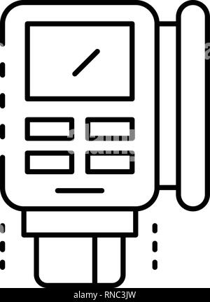 Invoice pos terminal icon, outline style - Stock Photo