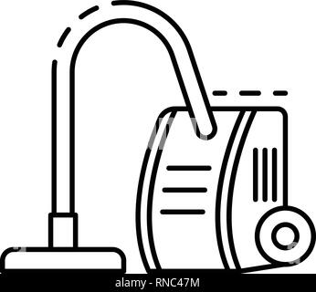 Old vacuum cleaner icon, outline style - Stock Photo